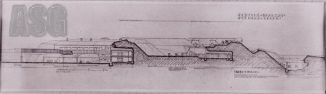 Längsschnitt Fort Hahneberg
