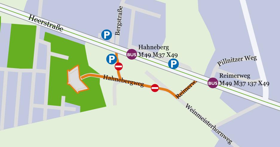 Anfahrtsplan Fort Hahneberg