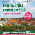 Plakat zum Langen Tag der Stadtnatur 2015