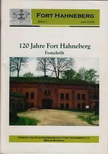 Broschüre »120 Jahre Fort Hahneberg« von Hrsg. Norbert Schilder