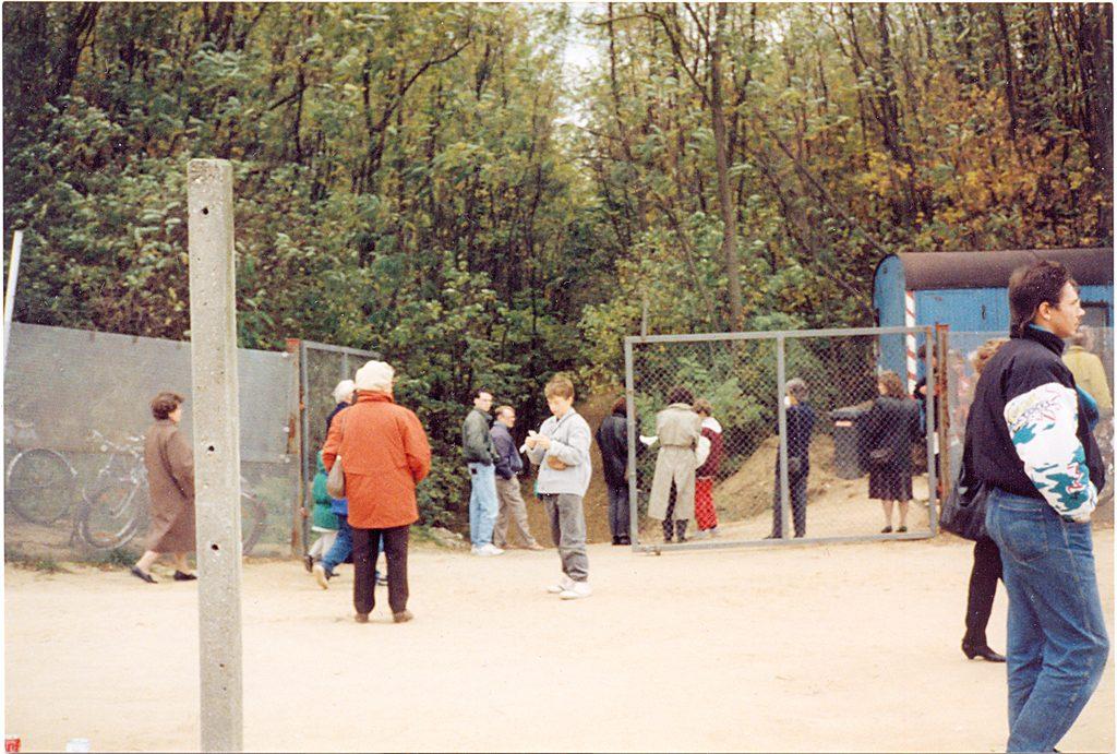 Zugang zu Fort Hahneberg, 1990