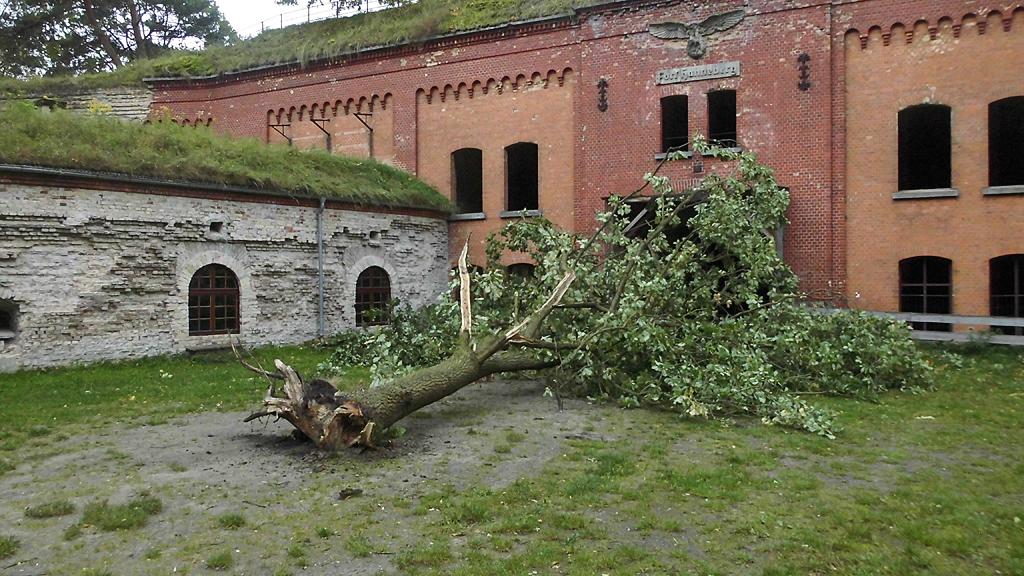 Sturmschäden im Fort