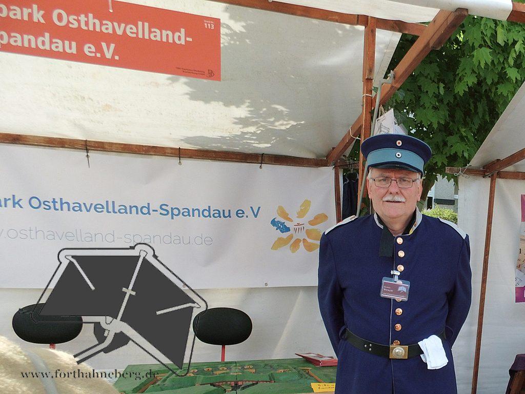 Informationsstand des Regionalparkes Osthavelland-Spandau