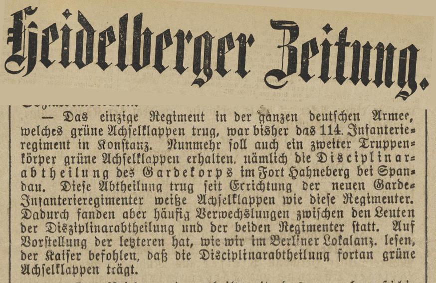 Heidelberger Zeitung 7.1.1899