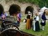 Historische Darsteller und Kanonen
